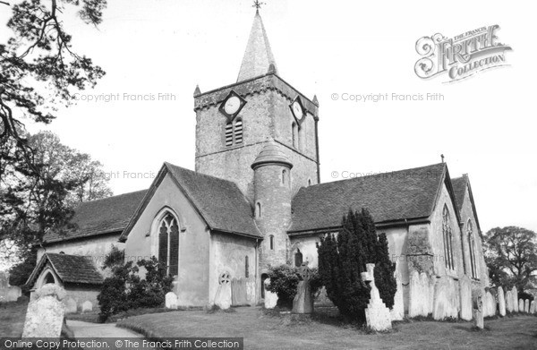 Photo of Witley, All Saints Church c.1960