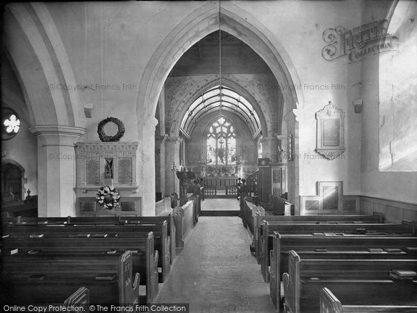 Photo of Witley, Church Interior 1919