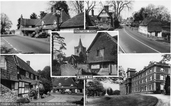 Photo of Witley, Composite c.1955
