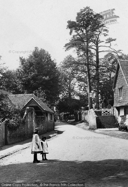 Photo of Witley, Girls In The Village 1906