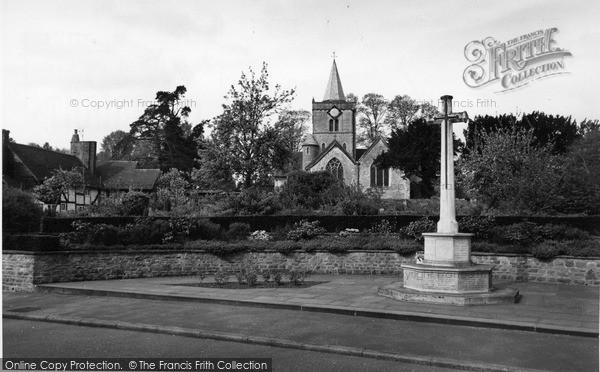 Photo of Witley, Memorial and All Saints Church c1960