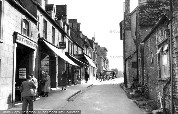 Photo of Witney, A Corner Of The Market Square c.1955