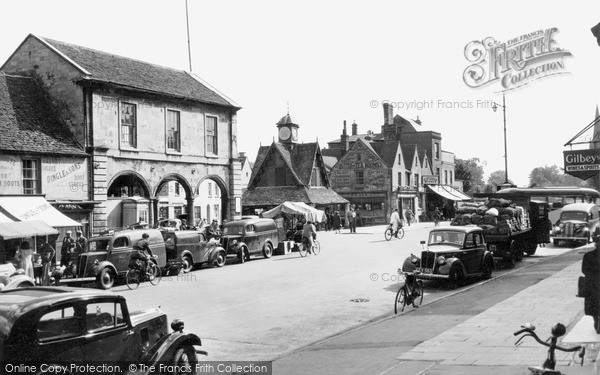 Photo of Witney, Market Square 1950