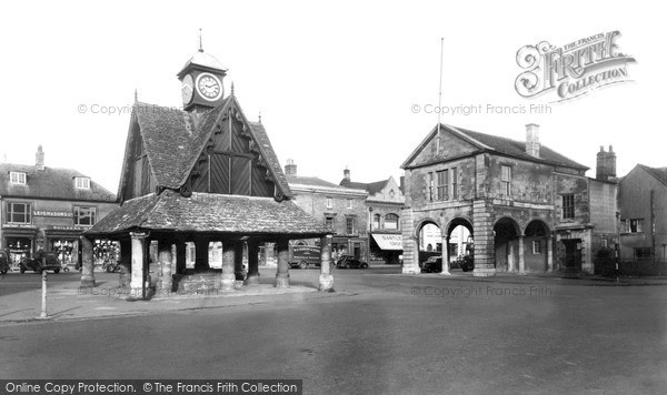 Photo of Witney, The Butter Cross And Town Hall c.1955