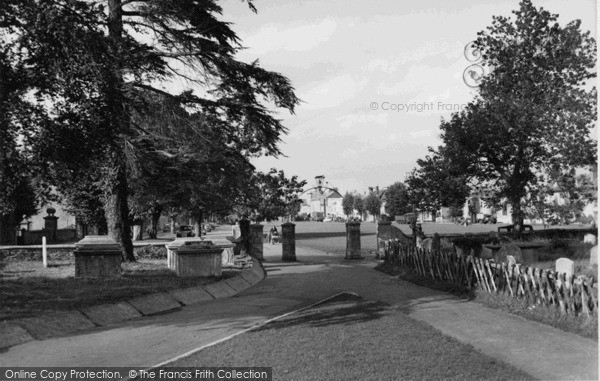 Photo of Witney, The Green From The Church c.1955