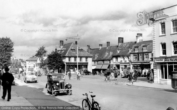 Photo of Witney, The Market Square c.1955