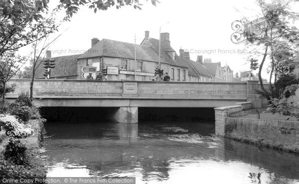 Photo of Witney, The River Windrush And Bridge c.1965