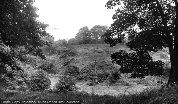 Photo of Witton Gilbert, The War Memorial From The Woods c.1955