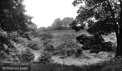 The War Memorial From The Woods c.1955, Witton Gilbert