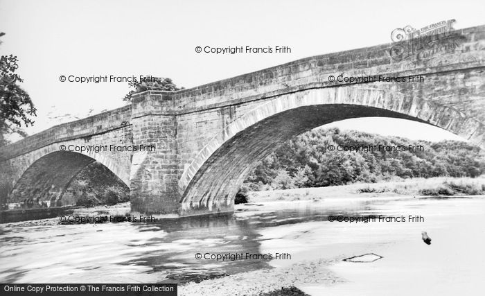 Photo of Witton Le Wear, The River Wear And Bridge c.1955