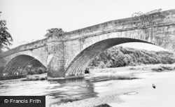 Witton Le Wear, The River Wear And Bridge c.1955
