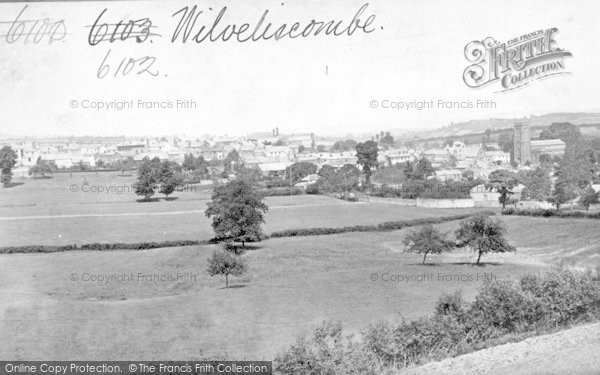 Photo of Wiveliscombe, General View c.1872