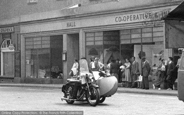 Photo of Wiveliscombe, Motorbike, The Square 1955