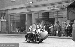 Wiveliscombe, Motorbike, The Square 1955