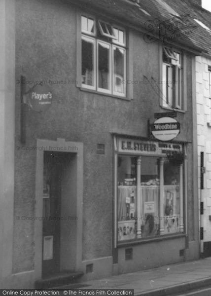 Photo of Wiveliscombe, Stevens' Hairdressers c.1967