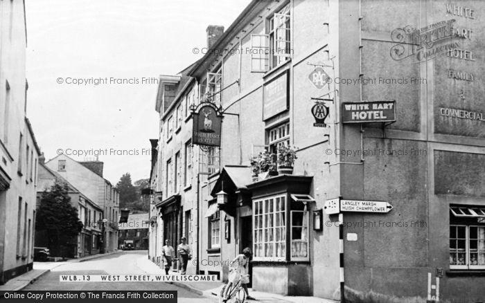 Photo of Wiveliscombe, West Street c.1955