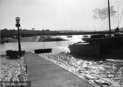 Wivenhoe, Evening Over Fingringhoe Ferry c.1955