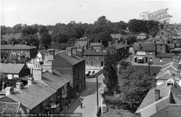 Photo of Wivenhoe, High Street From Church Tower c.1955