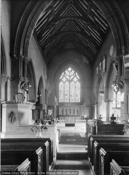 Photo of Wivenhoe, The Church Interior c.1955