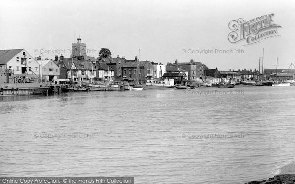 Photo of Wivenhoe, The Quay c.1955