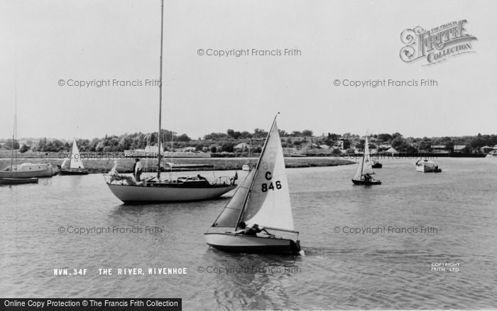 Photo of Wivenhoe, The River c.1960