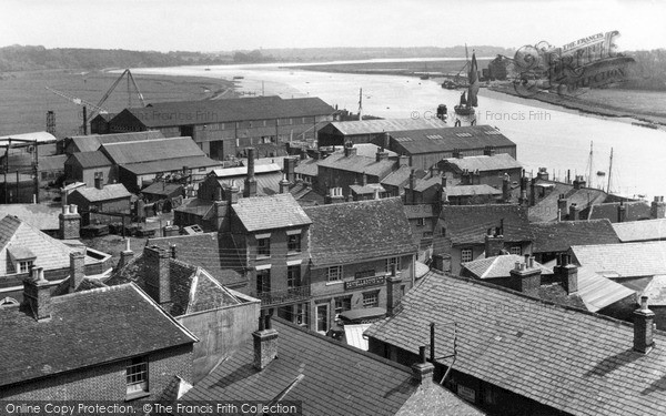 Photo of Wivenhoe, View From Church Tower Looking East c.1955