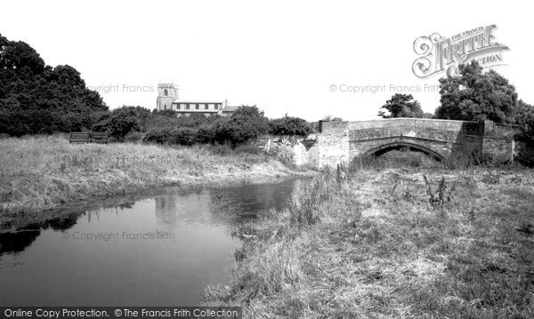 Photo of Wiveton, St Mary's Church And The Bridge c.1965