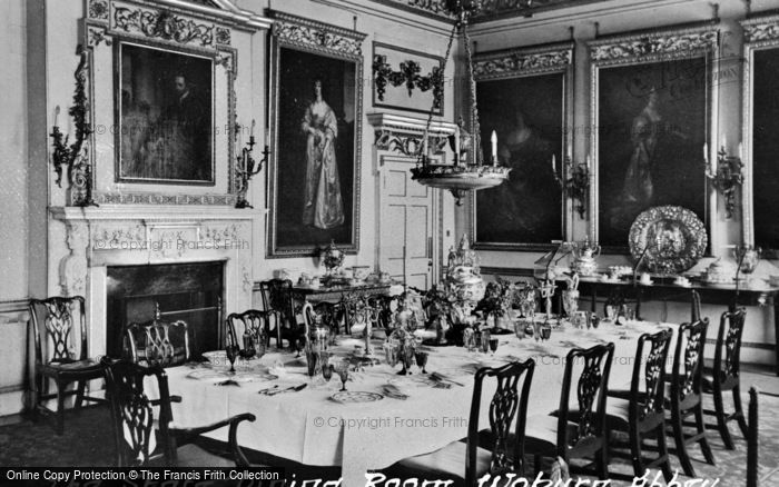 Photo of Woburn Abbey, State Dining Room c.1960
