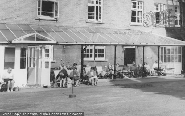 Photo of Woburn Sands, Sitting Outside Daneswood Convalescent Home c.1970