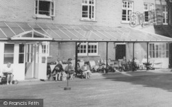Woburn Sands, Sitting Outside Daneswood Convalescent Home c.1970