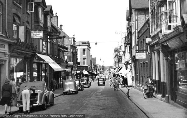 Photo of Woking, Chertsey Road c.1955