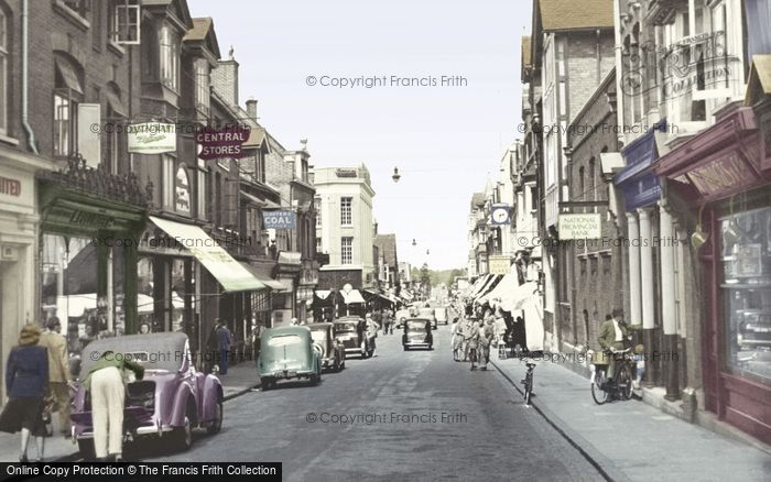 Photo of Woking, Chertsey Road c.1955