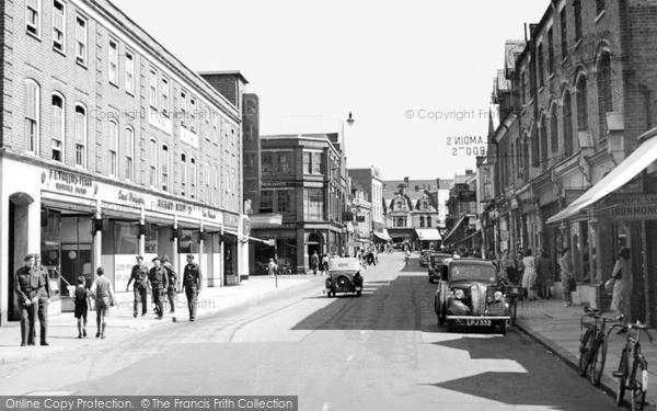 Photo of Woking, Chobham Road c.1955