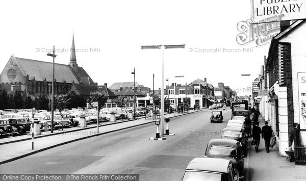 Photo of Woking, Commercial Road And Christ Church c.1960