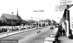 Woking, Commercial Road And Christ Church c.1960
