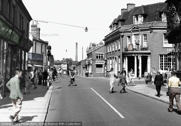 Photo of Woking, Commercial Road c.1955