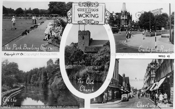 Photo of Woking, Composite c.1955