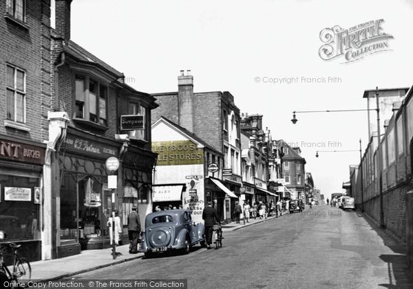 Photo of Woking, High Street c.1955