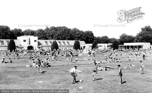 Photo of Woking, Swimming Pool c.1955