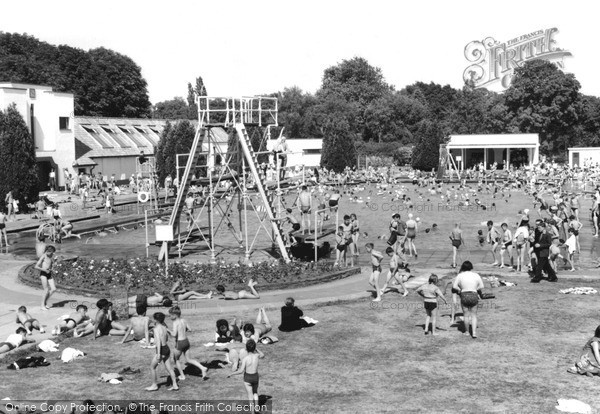 Photo of Woking, Swimming Pool c.1955