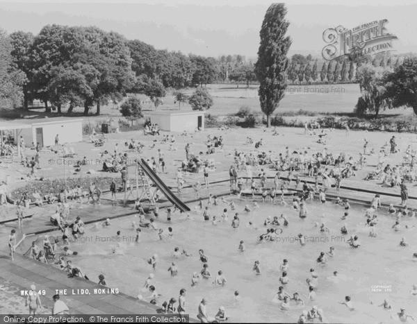 Photo of Woking, Swimming Pool  c.1965