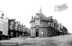 Woking, The Old Bank And Chertsey Road 1898