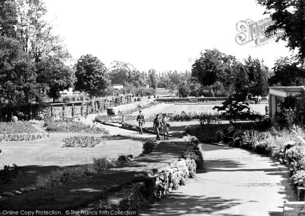Photo of Woking, The Rock Walk, The Park c.1955