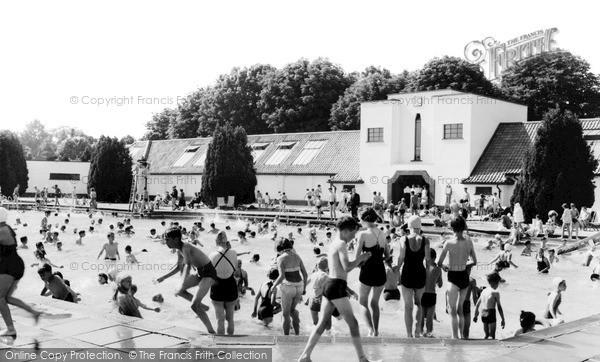 Photo of Woking, The Swimming Pool c.1955