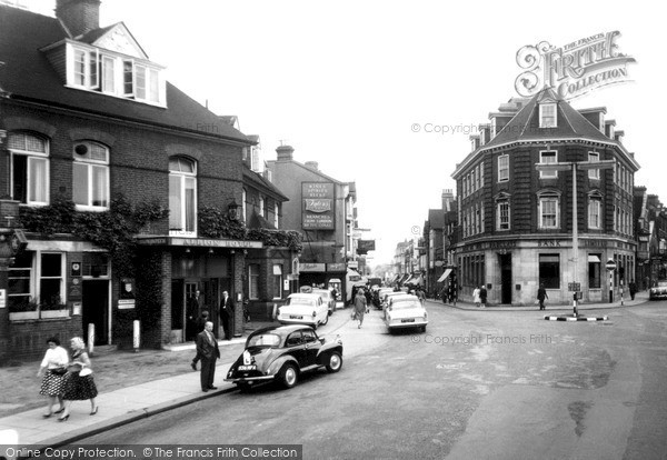Photo of Woking, The Town Centre c.1960