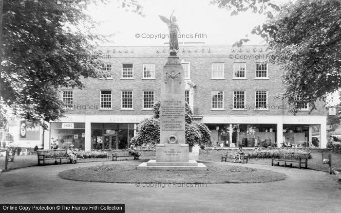 Photo of Woking, the War Memorial c1965