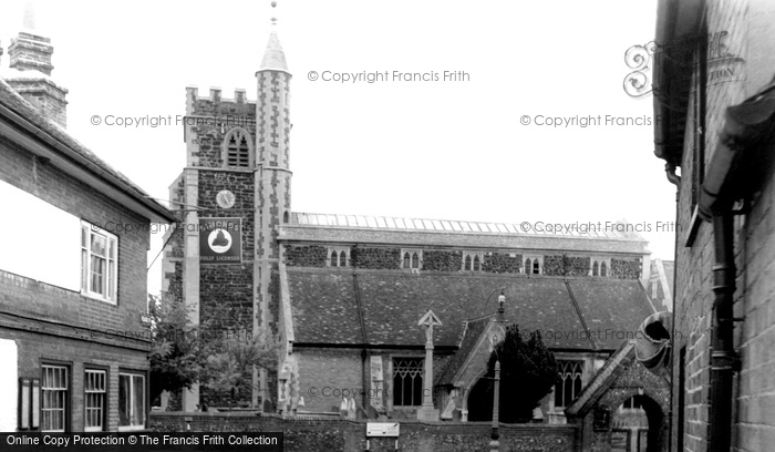Photo of Wokingham, All Saints Church c.1955