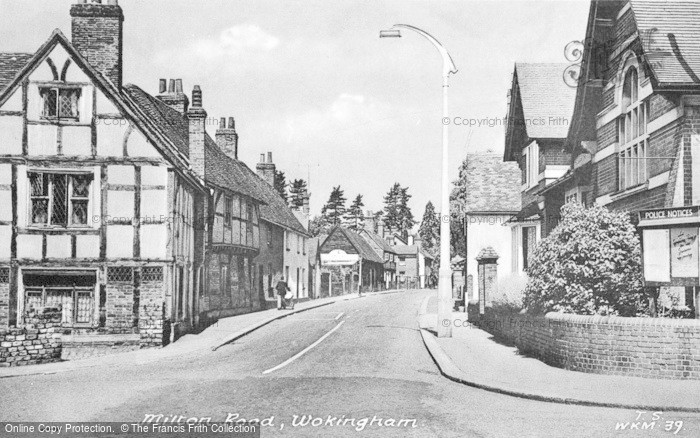 Photo of Wokingham, Milton Road c.1955