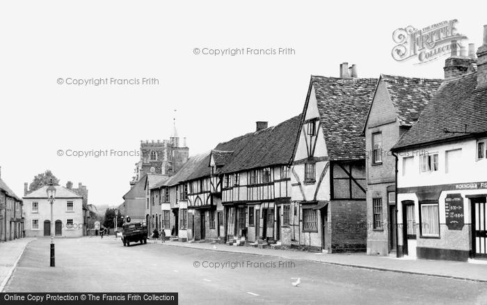 Photo of Wokingham, Rose Street c.1955