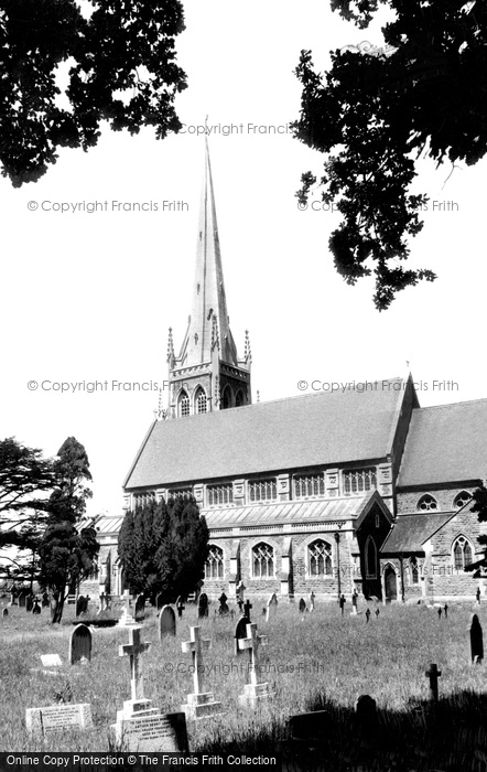 Photo of Wokingham, St Paul's Church c.1955